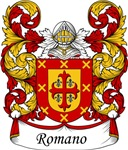 Romano Family Crest, Coat of Arms