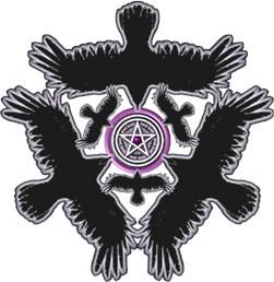 Feminine Eleven Crow Pentacle - Purple