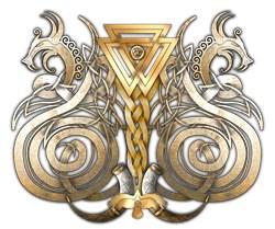 Norse Valknut Dragons