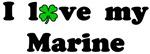I love my Marine - With lucky clover