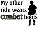 My other ride wears combat boots