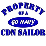 Property of a CDN Sailor - Go Navy