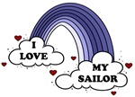I Love My Sailor Navy Rainbow