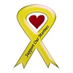 Support Our Marines Yellow Ribbon