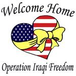 Welcome Home OIF Heart with yellow bow