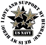I Love and Support my HUSBAND - US Navy