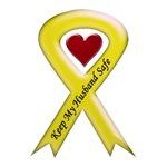 Keep My Husband Safe - Military Yellow Ribbon