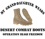 My Grand-Daughter wears Desert Combat Boots OIF