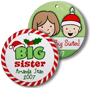 Big Sister personalized ornaments