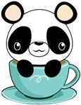 Kawaii Panda in Teacup