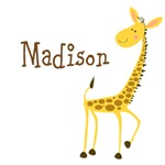 Custom Name Giraffe