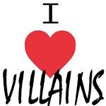 I Heart Villains (black lettering)