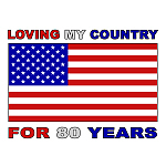 Patriotic 80th Birthday Gifts