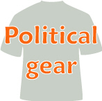 Political apparel, parody, gifts, humor