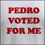 Pedro voted for me