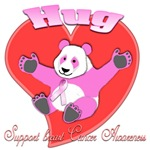 hug 3D Panda Pink Breast Cancer Awareness