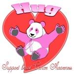 hug 3D Panda Pink Breast Cancer Awareness