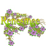 Team Renesmee floral Lavender Flowers yellow Gold