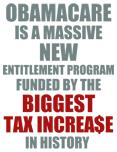 Obamacare Biggest Tax Increase