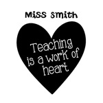 Custom Teacher Heart