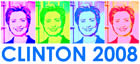 Clinton 2008 Pop Art