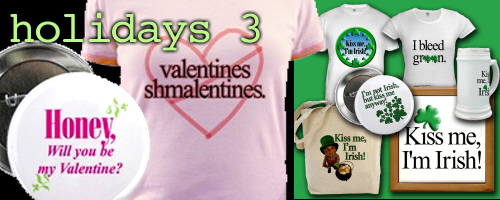 Valentines Day St. Patrick's Day T-shirts & Gifts