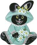 Easter bunny in bonnet