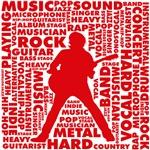 Guitarist Silhouette Typo