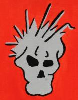 Orange Mohawk Skullz