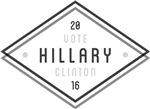 BW Geo Frame Vote Clinton 16