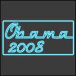 Neon Blue Obama 2008