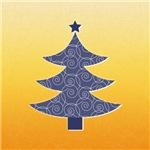 Purple and Orange Christmas Tree