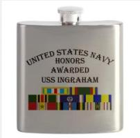 Custom Navy Ship Honors Flask & Shot glass A - L