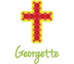 Georgette Bubble Cross