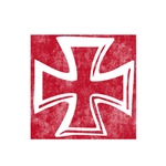 Pretty red christian cross 2 L n
