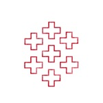 Pretty red christian cross 2 U T