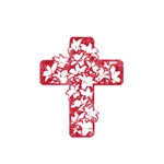 Pretty red christian cross 5 U Q