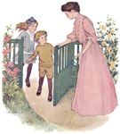 1900's Mother at the Gate