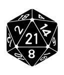 21 Sided 21st Birthday D20 Fantasy Gamer Die