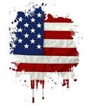 United States Flag Paint Splatter