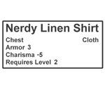 Nerdy Linen Shirt