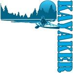 Kayaker (Blue)