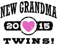 New Grandma Twins 2015 t-shirt