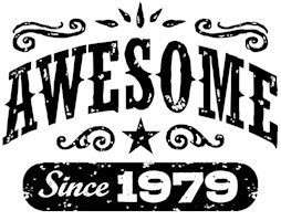 Awesome Since 1979 t-shirts