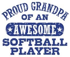 Proud Softball Grandpa t-shirts