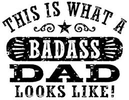 Badass Dad t-shirts