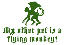 My Other Pet is a Flying Monkey t-shirt