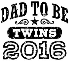 Dad To Be Twins 2016 t-shirt