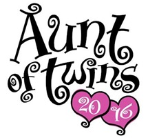 Aunt of Twins 2016 t-shirt
