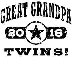 Great Grandpa 2016 Twins t-shirt